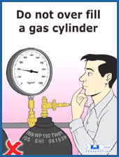 pre laminated high pressure cylinder poster
